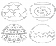 oeuf de paquess patterns dessin à colorier