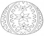 ornate oeuf de paques dessin à colorier