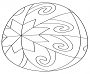 oeuf de paques star pattern dessin à colorier