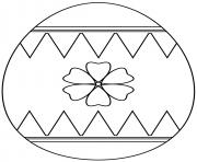 oeuf de paques avec flower dessin à colorier