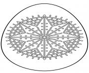 oeuf de paques avec octagram star dessin à colorier