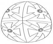 oeuf de paques geometric pattern dessin à colorier
