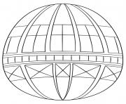 geometric oeuf de paques dessin à colorier