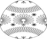 oeuf de paques avec flower pattern dessin à colorier