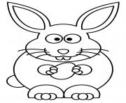lapin de paques avec un oeuf dessin à colorier