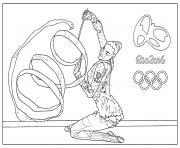 Coloriage jeux olympiques rio 2016 natation dessin