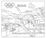 jeux olympiques rio 2016 natation dessin à colorier