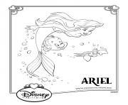 la petite sirene disney princesse dessin à colorier