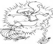 Coloriage ariel arielle petite sirene dessin