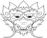 Coloriage cool nouvel an chinois dragon dessin