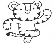 Soohorang jeux olympiques dessin à colorier