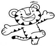 Coloriage 2018 Winter Olympics Game Mascot Tiger Soohorang
