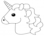 Unicorn Emoji dessin à colorier