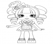 Coloriage Coco Cookie Shoppies Dolls from Shopkins