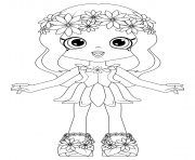 Coloriage Shoppies Dolls Daisy Petals