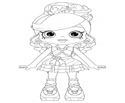 Coloriage Fria Froyo from Puppy Patio Shopkins Theme