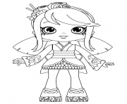 Coloriage Sara Sushi Doll Coloring for Girls