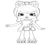 Coloriage Coco Cookie Shoppies Dolls from Shopkins dessin