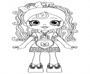Coloriage Shopkins Doll Spaghetti Sue Lil Shoppie from the Happy Places