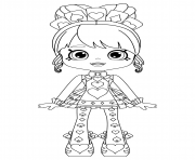 Coloriage Shopkins Shoppies Queenie Hearts or Queen of Hearts