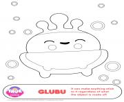 Coloriage GluBu 1 true and the rainbow kingdom