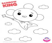 Rainbow King 1 true and the rainbow kingdom dessin à colorier