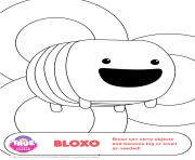 Bloxo 1 true and the rainbow kingdom dessin à colorier