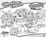 shopkins shoppies world vacation europe 4 dessin à colorier