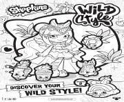shopkins saison 9 wild style 5 dessin à colorier