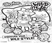 shopkins saison 9 wild style 8 dessin à colorier