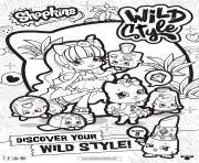 shopkins saison 9 wild style 7 dessin à colorier