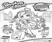 shopkins shoppies world vacation europe Spaghetti Sue Mario Meatball Lyn Gweeni dessin à colorier
