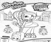 Coloriage shopkins shoppies Princess Sweets English Rose world vacation europe