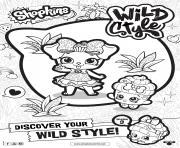 shopkins saison 9 wild style 2 dessin à colorier