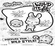shopkins saison 9 wild style 4 dessin à colorier