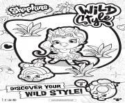 shopkins saison 9 wild style dessin à colorier