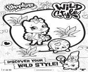 shopkins saison 9 wild style 3 dessin à colorier
