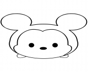 Coloriage Mickey Mouse Emoji Face Tsum Tsum