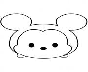 Mickey Mouse Emoji Face Tsum Tsum dessin à colorier