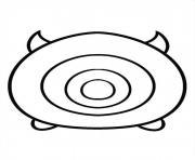 Mike Wazowski Tsum Tsum dessin à colorier