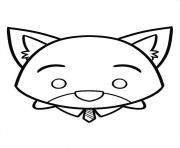 Nick Wild Disney Tsum Tsum dessin à colorier