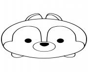 Tsum Tsum Chip dessin à colorier