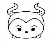 Coloriage Cute Maleficent Tsum Tsum