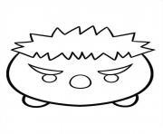 Superhero Hulk Tsum Tsum dessin à colorier