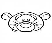 Cute Disney Tigger Tsum Tsum dessin à colorier
