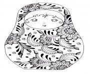 Matryoshka dolls  Poupee Russe dessin à colorier
