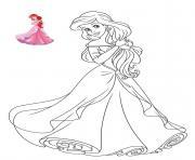 Princesse Disney Ariel dessin à colorier