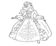 Princesse Disney Barbie 2 dessin à colorier