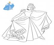 Coloriage Princesse Disney Cendrillon