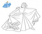 Princesse Disney Cendrillon dessin à colorier